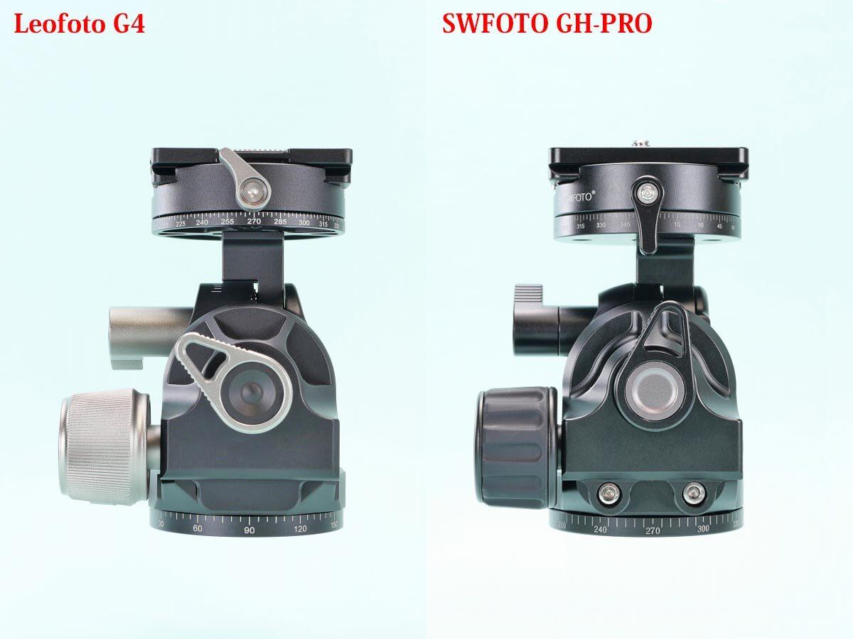 11 Leofoto G4 と SWFOTO GH-PRO  比較右