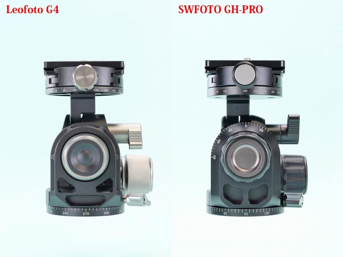 13 Leofoto G4 と SWFOTO GH-PRO  比較左