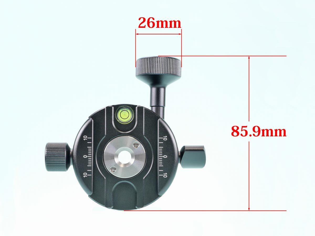 11 SWFOTO GC-01 ギアパノラマクランプ 寸法上面_3