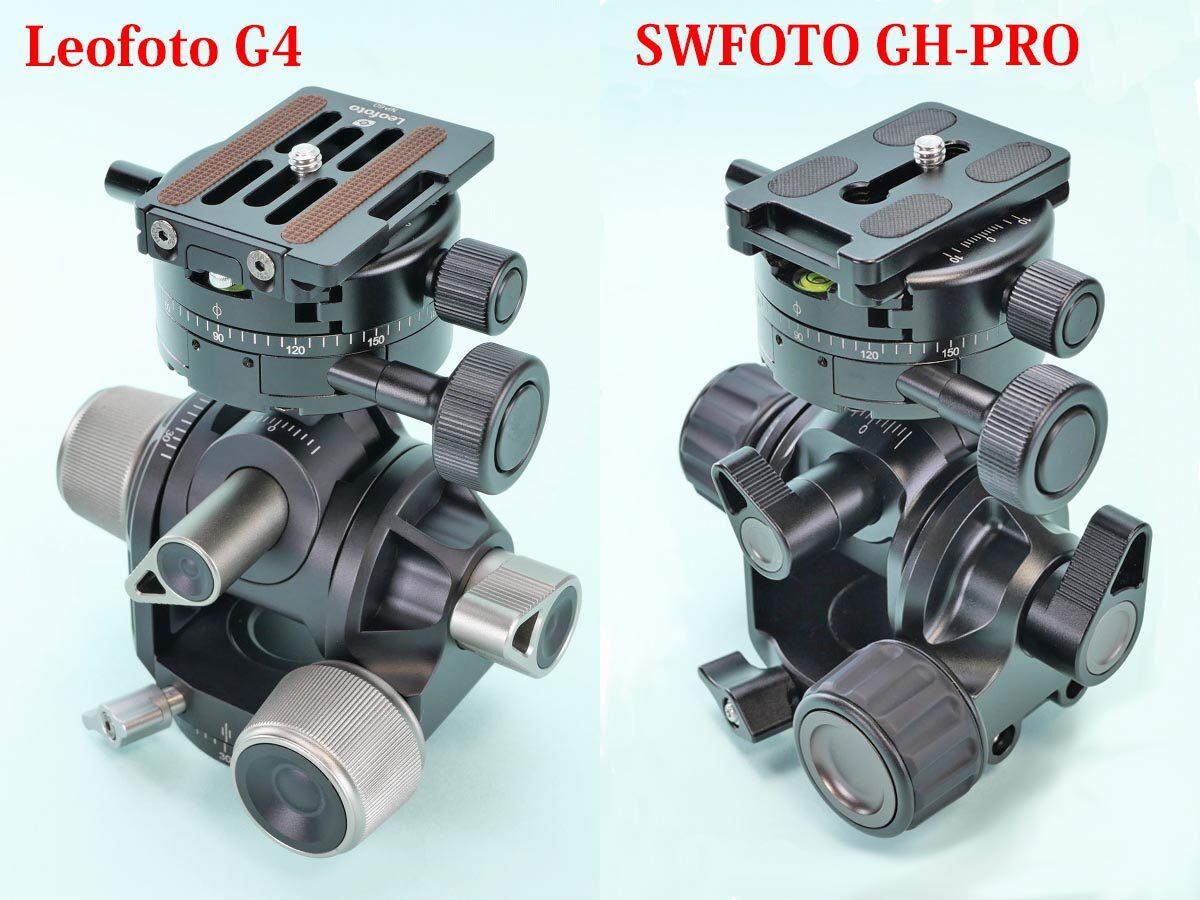 17 GH-PRO+GC-01 LEOFOTO G4+GC-01 取り付け後比較